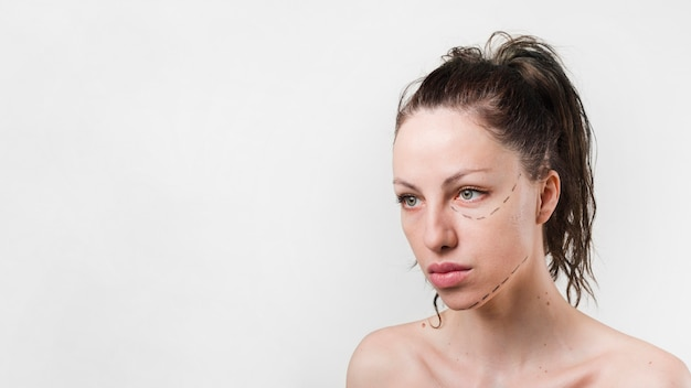 Girl with clean skin posing Free Photo