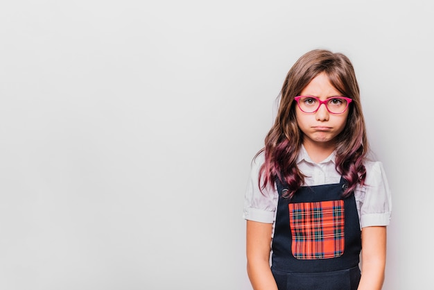 Girl with disappointed expression Free Photo