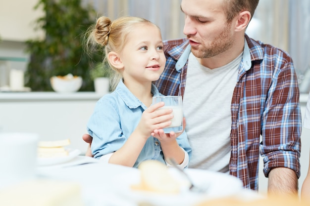 Girl with father Free Photo