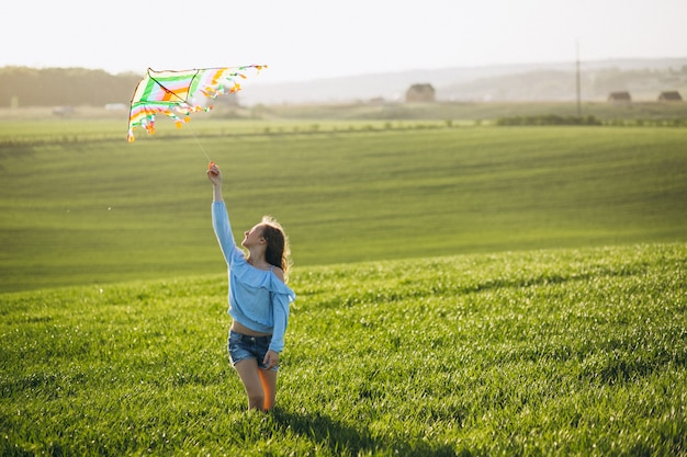 Girl with kite Free Photo