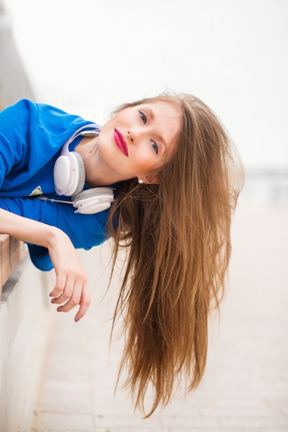 Girl with long hair Free Photo