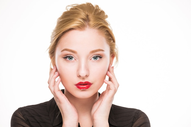 Girl with make-up Premium Photo