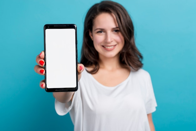 Girl with smartphone Free Photo