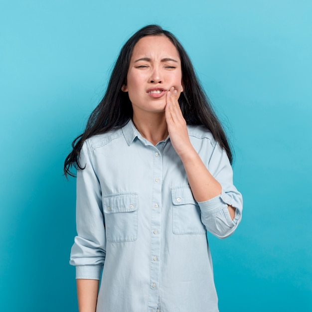 Girl with toothache Free Photo