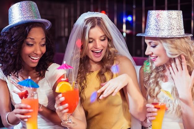 Girls celebrating bachelorette party Premium Photo