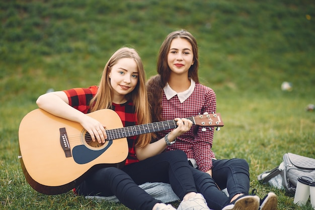 girls with guitar Free Photo