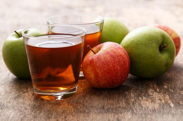 Glass of apple juice Free Photo