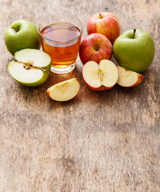 Glass of apple juice Free Photo