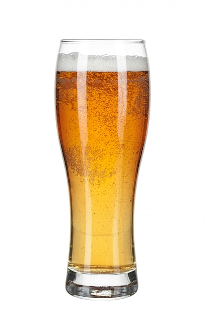 Glass of beer isolated Premium Photo