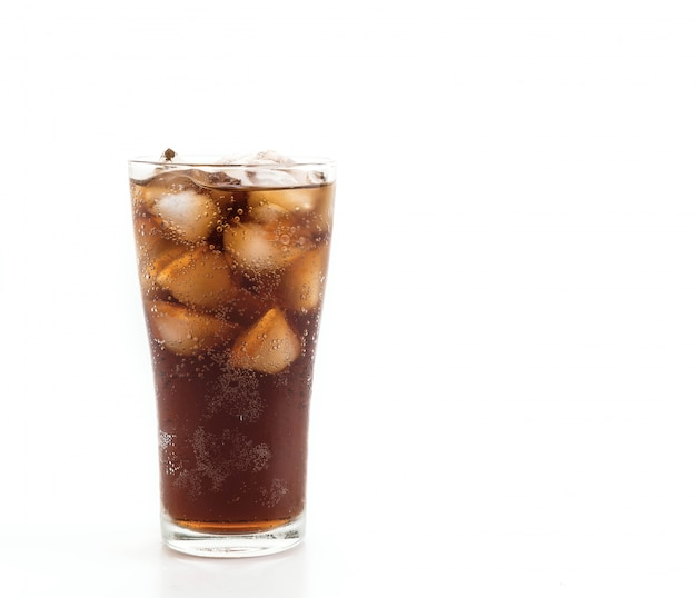 Glass of cola with ice Free Photo