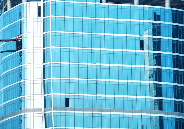 Glass curtain wall of modern office building Premium Photo