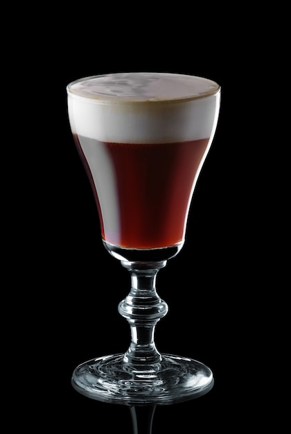 Glass of espresso martini isolated Premium Photo