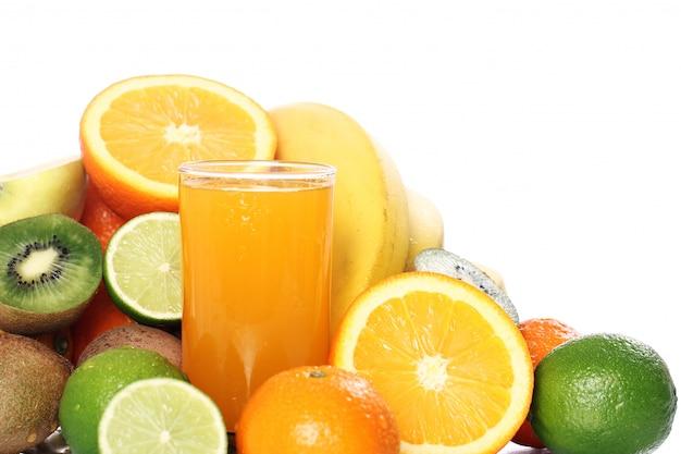 Glass of fresh fruit juice Free Photo