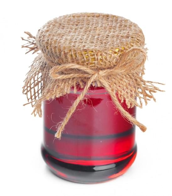 Glass jar with sweet honey Premium Photo