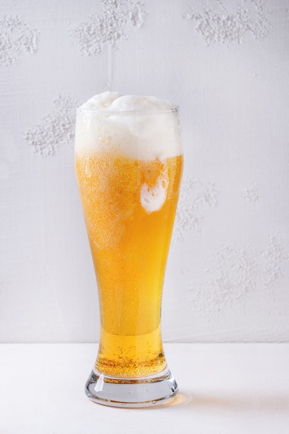 Glass of lager beer Premium Photo