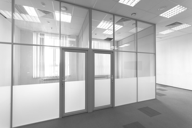 Premium Photo Glass Partition In The Office Office Space The Interior Of A Modern Building Room For Rent