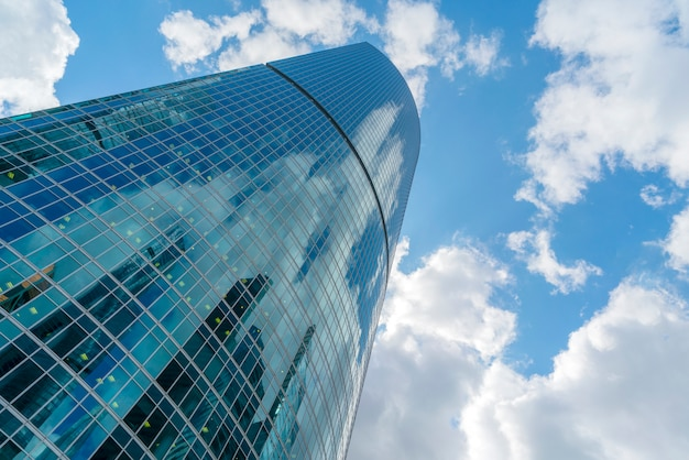 Glass skyscrapers in the city center, modern buildings, Premium Photo