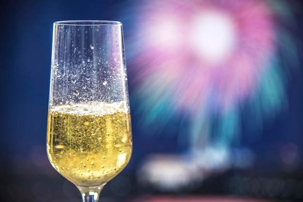 A glass of sparkling wine Free Photo