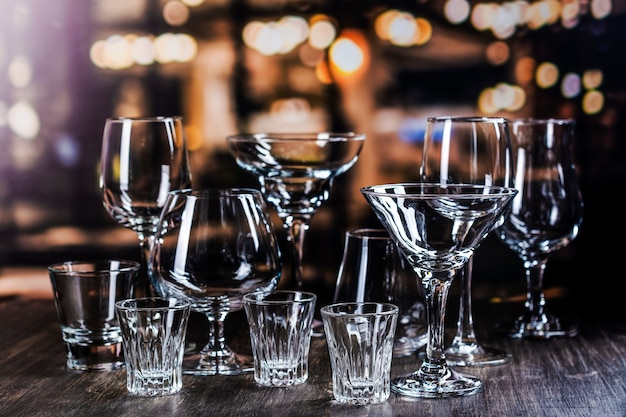 Glass for strong alcohol drinks Premium Photo