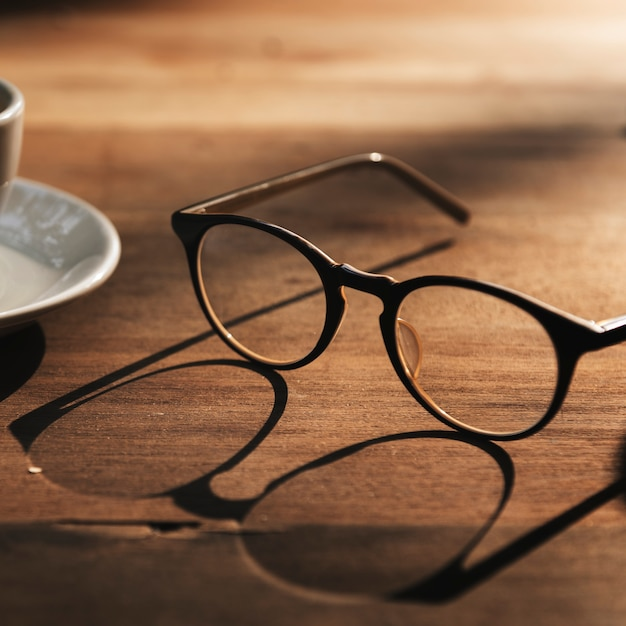 Glasses cup coffee break concept Free Photo