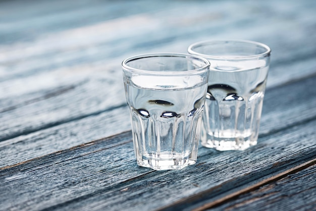 Glasses and jug of cold water Premium Photo