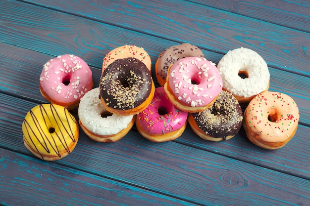 Glazed donuts Premium Photo