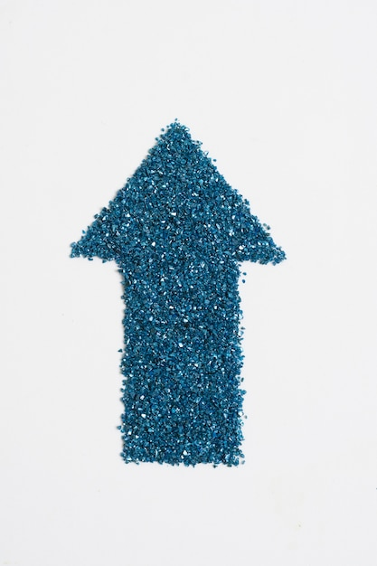 Glitter blue arrow pointing up Free Photo