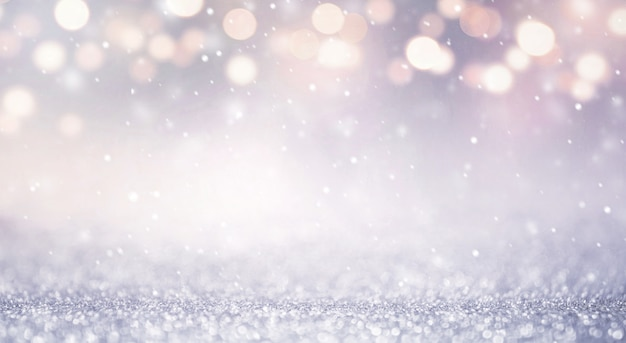 Glitter vintage lights abstract background new year holiday. blue and gold, copy space. Premium Photo