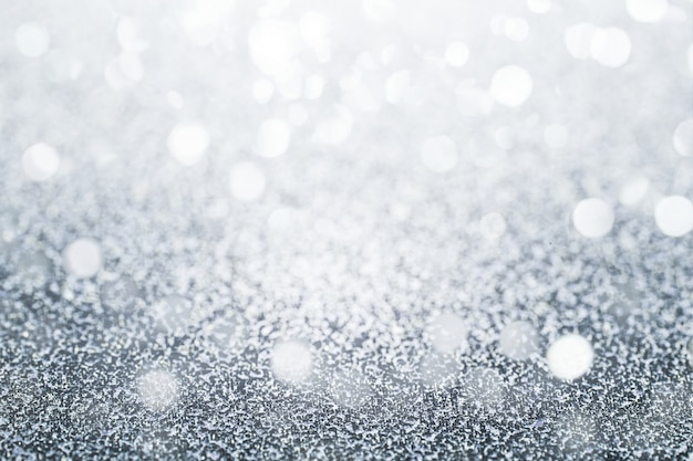 Glittery silver background Free Photo