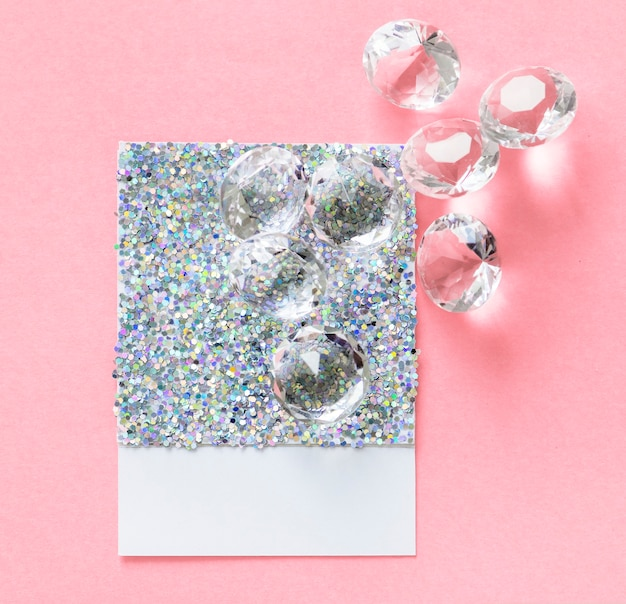 Glittery and sparkly paper card Free Photo