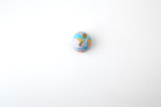 Globe on the white background Premium Photo