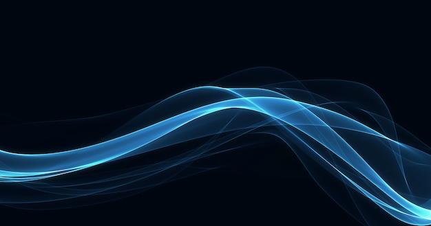 暗い背景に輝く青い線 無料写真