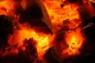 Glowing fire embers  fire Free Photo