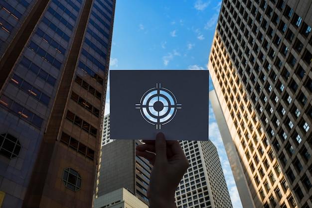 Goals target aspiration perforated paper bullseye Free Photo