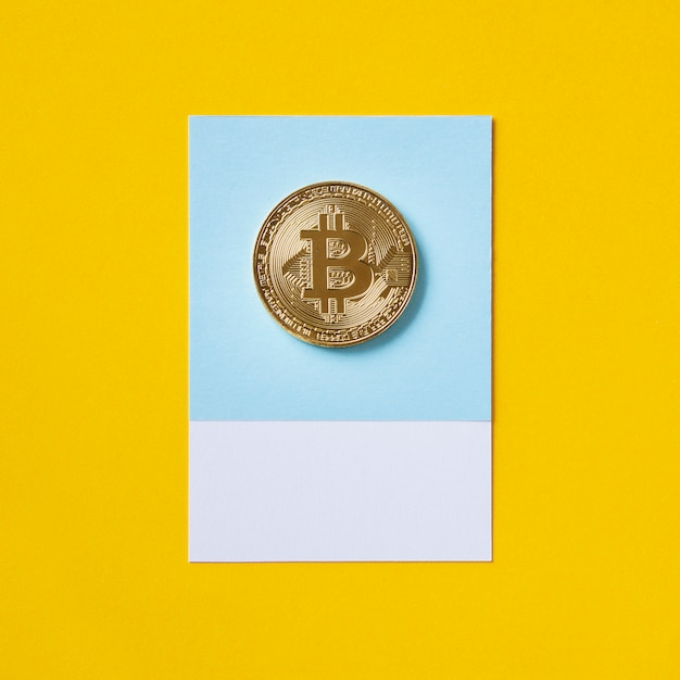 Gold bitcoin economic currency symbol Free Photo