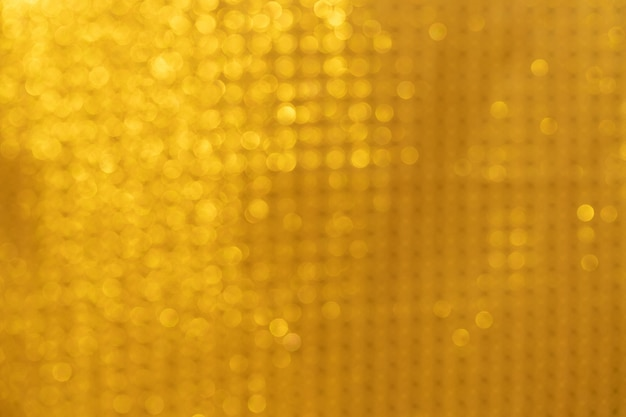 Gold bokeh background gold abstract lights Premium Photo