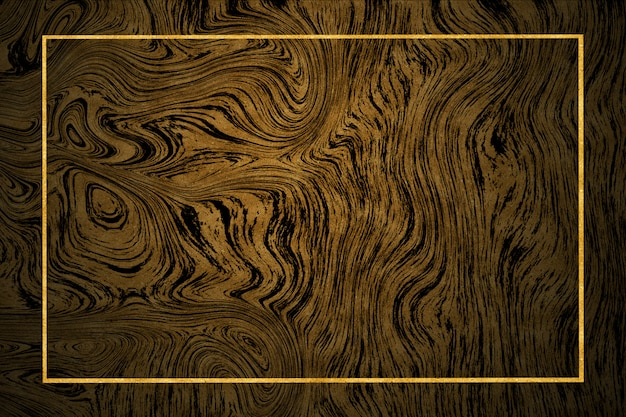 Gold border dark gold marble pattern and luxury interior wall tile and floor Premium Photo
