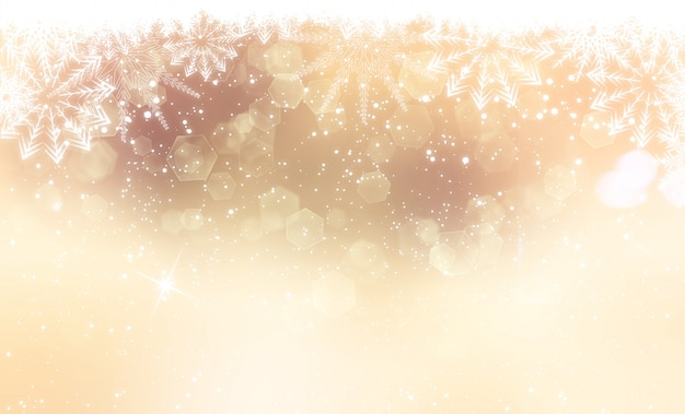 Gold christmas background Free Photo