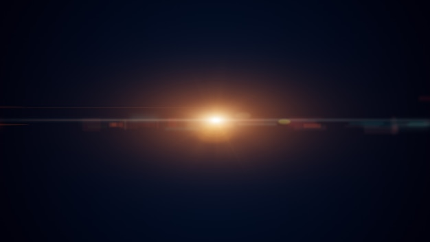 Gold digital abstract background with wave particles, glow sparkles and space with depth of field. Premium Photo
