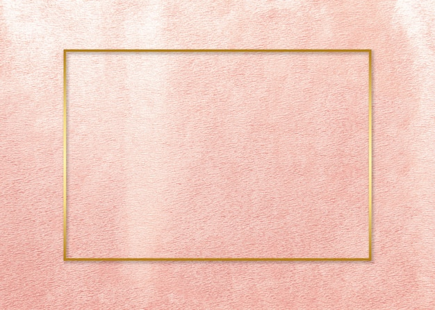 Gold frame on pink card Free Photo
