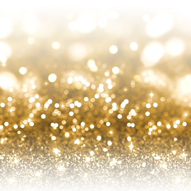 Gold glitter christmas background Free Photo