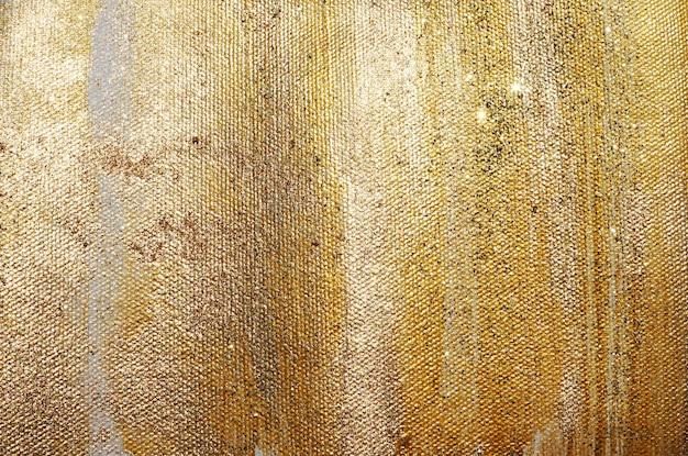 Gold glitter paint texture Premium Photo