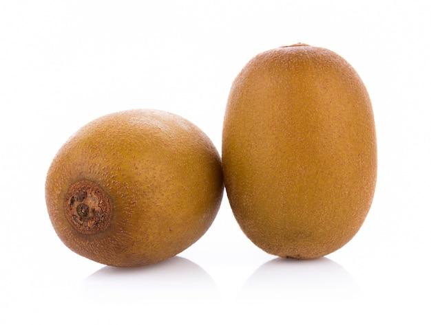 Gold kiwi fruit isolated on white background Premium Photo