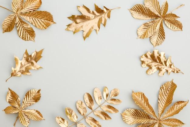 Элементы дизайна сусального золота по краю рамки Premium Фотографии