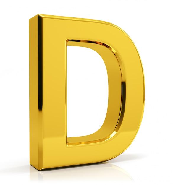 Gold letter d | Premium Photo