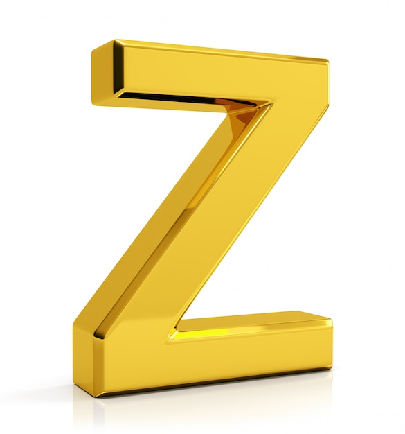 Gold letter z Premium Photo