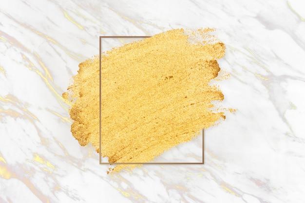 Gold makeup smudge Free Photo