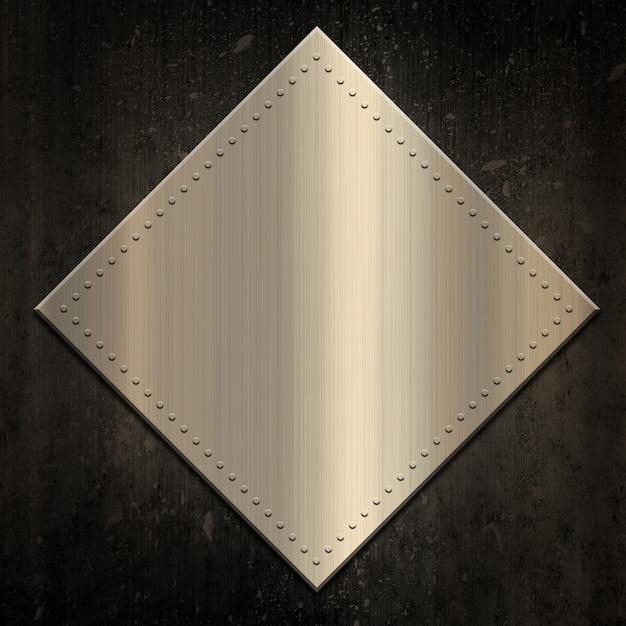 Gold metallic background on grunge Free Photo