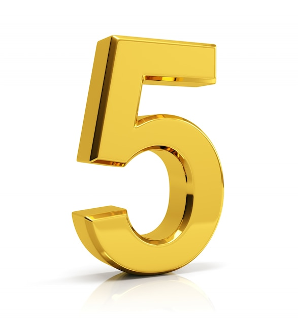 Gold Number 5 Photo