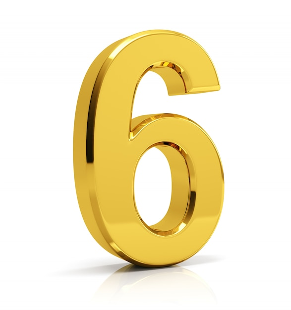 Gold Number 6 Photo